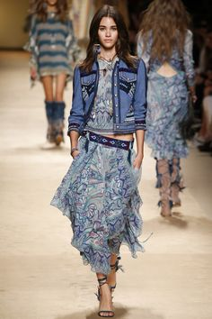 Etro Spring 2015... Love the skirt not crazy about the jacket or top.