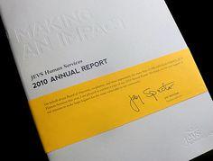 JEVS Human Services 2010 Annual Report by Jason Fritzsche, via Behance