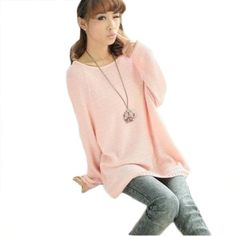 Women Grils Batwing Round Neck Knitted Pullover Batwing Sweater (Pink) asoidchi,http://www.amazon.com/dp/B00EFU030I/ref=cm_sw_r_pi_dp_xPnTsb16GWA7XCH7