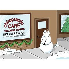 Snowman Chiropractic Christmas Card