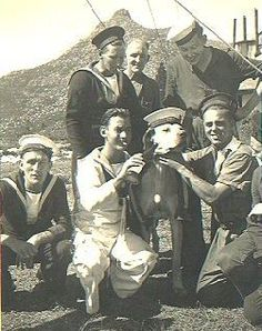 Able Seaman Just Nuisance. wearing a cap and jacket - going on parade with his… Old Photos, Vintage Photos, Johannesburg City, Animal Heros, Spotty Dog, The Blues Brothers, Desert Life, Cape Town South Africa, Out Of Africa