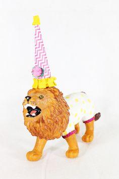 "Jumbo Party Animal  ""Lion""- Custom Order  painted carnival, circus, and birthday decor"