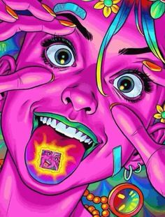 """Eye opening experiences"" 👁️ Artwork by Trippy Drawings, Psychedelic Drawings, Art Drawings, Psychedelic Artists, Trippy Pictures, Psychadelic Art, Trippy Painting, Stoner Art, Hippie Art"