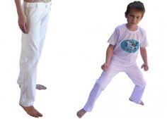Pantalon de capoeira-Abada Sdobrado Blanc-ENFANT