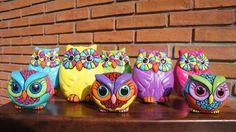 como pintar lechuzas de yeso - Buscar con Google
