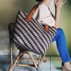Anjani Tote Bag in combination with classic Parang Batik #djokdjabatik