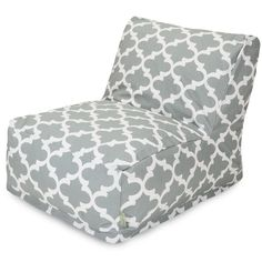 """- Chair Lounger - Dimensions: 36"""" L x 27"""" W x 24"""" H - Type: Indoor / Outdoor - Usage: Indoor / Outdoor - Pattern: Trellis Gray - Made in: USA - Zippered Slipcover - 7 oz. Cotton fabric - Weight Capaci"""