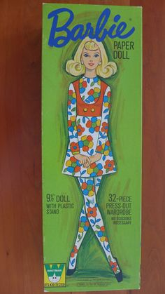 Mod Barbie Barbie Paper Doll and 32 Piece Wardrobe Whitman (mod Fashions) Uncut | eBay