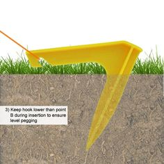 I cool tent stake that keeps you from tripping as much, and keeps them in the ground longer!