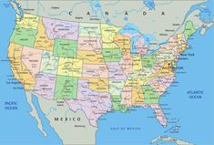 Výsledek obrázku pro mapa hranic usa