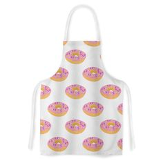 "Vasare Nar ""Doughnut Heaven"" Pink Digital Artistic Apron - KESS InHouse"