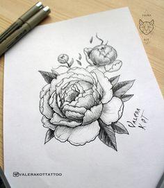 тату эскиз, пионы, цветы, графика, татуировка, пион, tattoo, peonyе
