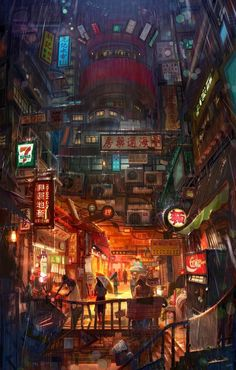 Travel Den – Find your perfect stay anywhere – Cyberpunk Gallery Cyberpunk City, Cyberpunk Kunst, Cyberpunk Aesthetic, Futuristic City, Concept Art Landscape, Fantasy Art Landscapes, Fantasy Landscape, Fantasy Artwork, Ps Wallpaper