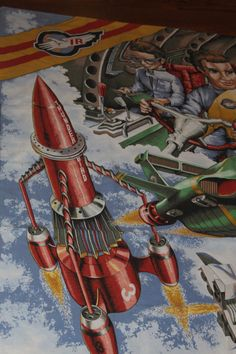 Thunderbirds Are Go Single Bed Duvet Cover. Gerry Anderson Supermarionation by AtticBazaar on Etsy Thunderbirds Are Go, Duvet Bedding, Bed Duvet Covers, Science Fiction, British, Tv, Handmade Gifts, Painting, Vintage