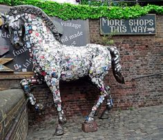 Camden, London NW1, Camden Lock Market, Horse with Stickers
