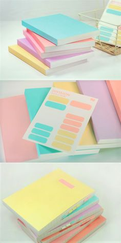 The welcoming pastel-colored cover makes a very lovely sight, and the inclusion of both lined and plain note makes this notebook is one super useful notebook! The Simple Pastel Notebook is a basic notebook that works wonderfully for school, work and any other purposes!