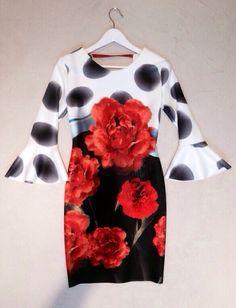 Vestido floreado, flowered dress, vestito fiorato.