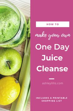 Need a little system reboot? A little detox? A one day juice cleanse is a great way to give your body a rest after working so hard on digesting food, especially if those foods haven't been the cleanest! One Day Juice Cleanse, 3 Day Detox Cleanse, Juice Cleanse Recipes, Detox Recipes, Healthy Lunches For Kids, Healthy Drinks, Candida Diet Recipes, Advocare Recipes, Eat Fruit