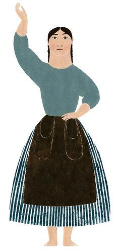 Mujeres piratas, bateleras, cargueras, sirgueras, bañistas, mitológicas... Elena Odriozola es la autora del diseño gráfico de la exposición Emakumeak eta itsasoa � Las mujeres y el mar del Museo Naval de Donostia � San Sebastián.