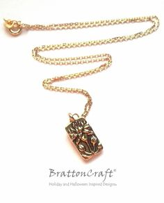 Gold Floating Lotus Flower Necklace  Lotus by BrattonCraft on Etsy