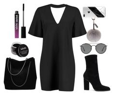 """""""Stay dark"""" by pinpricks ❤ liked on Polyvore featuring Boohoo, Alexander Wang, Gucci, Helen Moore, NYX, Ray-Ban and Charlotte Russe"""
