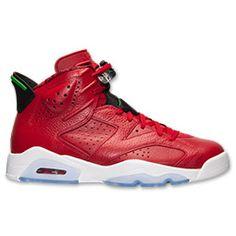 Men's Air Jordan Retro 6 Basketball Shoes| Finish Line | Varsity Red/Classic Green/Black/White