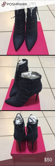 Ankle heel boots Henley denim boots Shoe Dazzle Shoes Ankle Boots & Booties