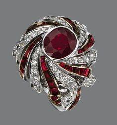Ruby and Diamond Ring, Sterle, Paris, circa 1950