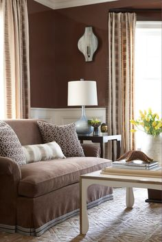 Living room interior design ideas – browns are modern Brown Living Room Decor, Brown Walls, Living Room Colors, Home Decor, Living Room Interior, Room Decor, Interior Design Living Room, Brown Living Room, Living Room Designs