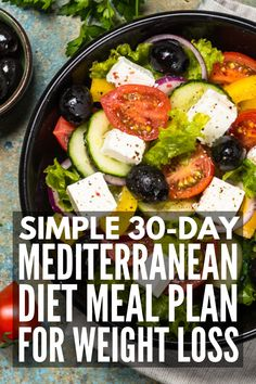 Lose weight without starving with this Mediterranean diet meal plan, which includes 120 mix and match recipes that are delicious and filling! Mediterranean Diet Meal Plan for Weight Loss - Mediterranean Diet Meal Plan for Weight Loss Diet Food To Lose Weight, Weight Loss Meals, Weight Loss Eating Plan, Clean Eating Recipes For Weight Loss, Weight Gain, Best Weight Loss Foods, Meals For Losing Weight, Vegetarian Weight Loss Plan, Weight Loss Diets
