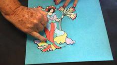 EzyShaid(R) Colour Presents Art Deco Lady.