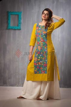 Designer kurtis for girls - Simple Craft Ideas Salwar Pattern, Kurta Patterns, Churidar Designs, Kurta Designs Women, Dress Neck Designs, Blouse Designs, Kurta Neck Design, Kurti Designs Party Wear, Indian Attire