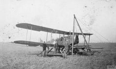 Q 72899  Airco D.H. 4 on war work. Tilling the ground.