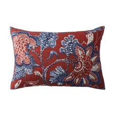 Multi Embroidered Pillow Cover-Flower