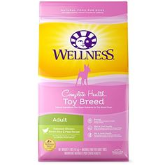 Wellness Complete Health Natural Dry Toy Breed Dog Food, Chicken & Rice, 4-Pound Bag >>> Visit the image link more details.