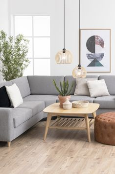 Transform a simple look into a cozy oasis by hanging your pendant light lower. Oasis, Cozy, House Design, Interior Design, Lighting, Pendant, Simple, Table, Plants