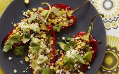 Mexican roasted peppers with sweetcorn