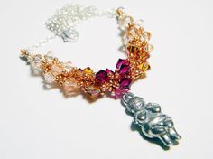 Goddess of Willendorf Swarovski Crystal Necklace by WhimsyBeading, $39.00