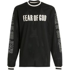 Fear Of God Men Motocross Techno Jersey & Mesh T-shirt ($1,010) ❤ liked on Polyvore featuring men's fashion, men's clothing, men's shirts, men's t-shirts, black, mens extra long sleeve shirts, mens long sleeve mesh shirt, mens t shirts, mens mesh shirt and mens embroidered shirts