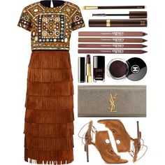 FRINGE AND TASSEL. by shanelala on Polyvore featuring Burberry, Aquazzura, Yves Saint Laurent, CARGO, Tom Ford, Chanel, women's clothing, women's fashion, women and female
