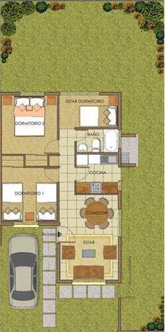 plano 1 piso 50m2