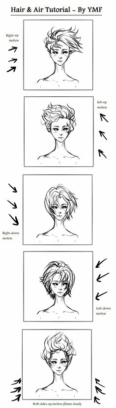 Reference hair drawing pose body head