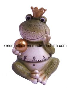 Polyresin Sculpture Frog Statue Mechanical Kitchen Timer on Made-in-China.com