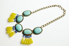 Spring statement necklace / JCrew Inspired #Happinessiscreating