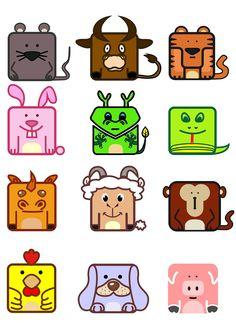 My students' work(Class 1404) : twelve Chinese zodiac on Behance Pokemon, Chinese Zodiac, Students, Behance, Logos, Tattoo, Design, Art, Tatuajes