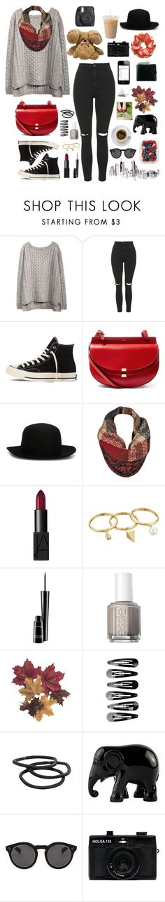 """""Fire and Fury"" by Skillet ⬇"" by genesis129 ❤ liked on Polyvore featuring Topshop, Converse, Polaroid, Chloé, ISABEL BENENATO, Black Rivet, NARS Cosmetics, Rebecca Minkoff, MAC Cosmetics and Essie"