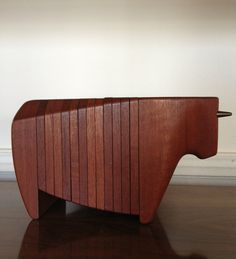 Danish Ernst Henriksen Teak Bull Coaster Set Denmark on Etsy, $500.00