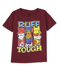 Look at this Burgundy Paw Patrol Tee - Boys on #zulily today!