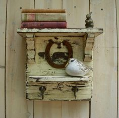 Rustic Shelf Comes With a Sweet Little Animal by honeystreasures, $200.00