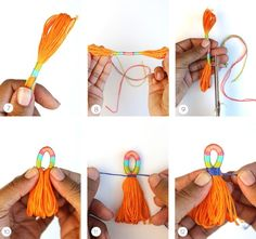 Making Tassels DIY with Embroidery Floss from DMC. Making Tassels DIY with Embroidery Floss from DMC. Yarn Crafts, Diy And Crafts, Arts And Crafts, Decor Crafts, Diy Jewelry, Handmade Jewelry, Jewelry Making, Tassel Jewelry, Jewellery